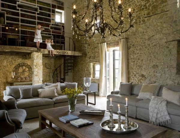 Rustikal Einrichten wohnzimmer deko rustikal