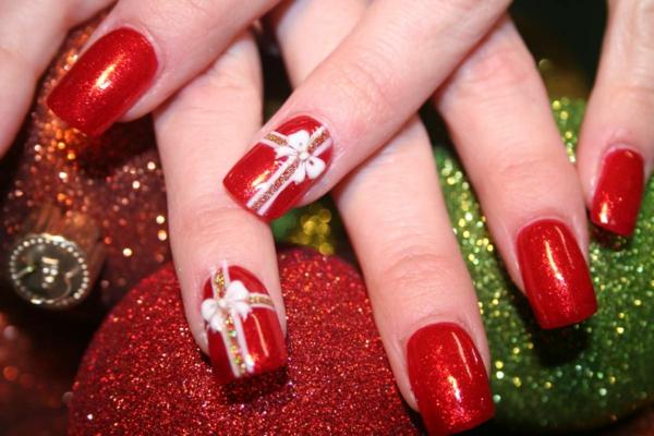 wunderbar-originell-verzierte-Nägel-Weihnachtsnägel-