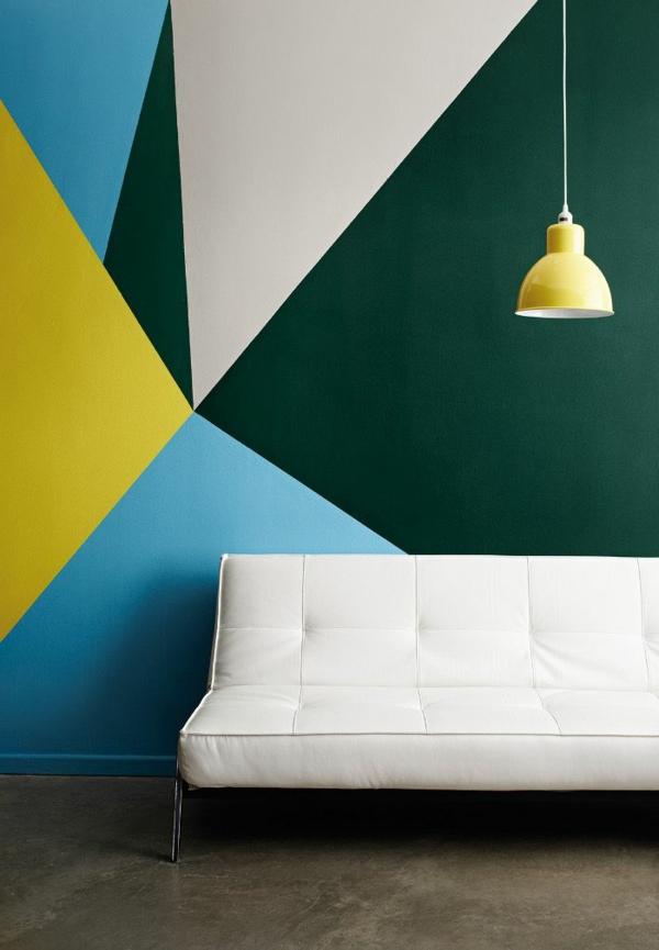 wunderbare-Wandgestaltung- modernes-Interior-Design-Blau-Grün