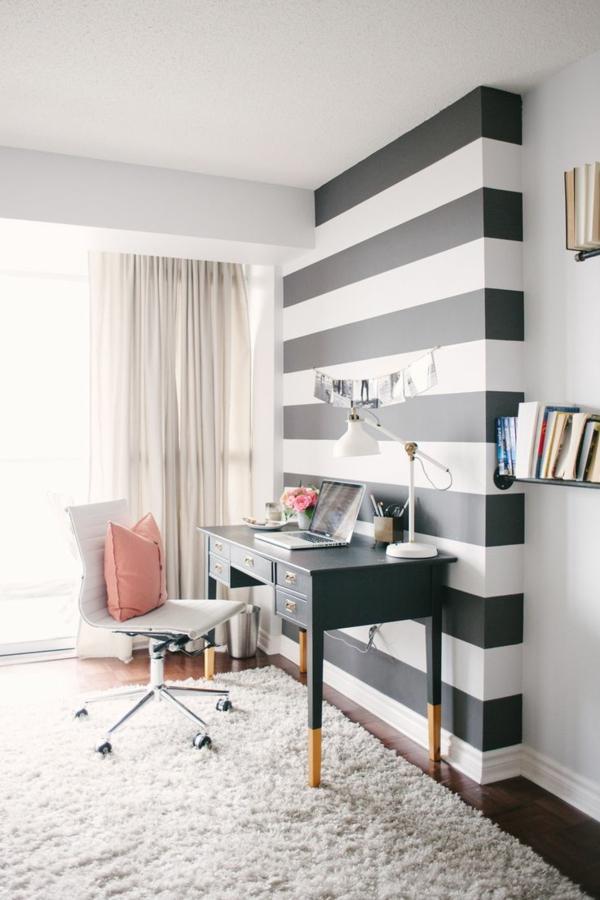 wunderbare-Wandgestaltung- modernes-Interior-Design-Streifen