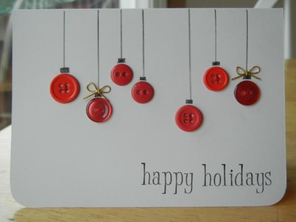 sch ne weihnachtskarten selber basteln mehr als 100. Black Bedroom Furniture Sets. Home Design Ideas
