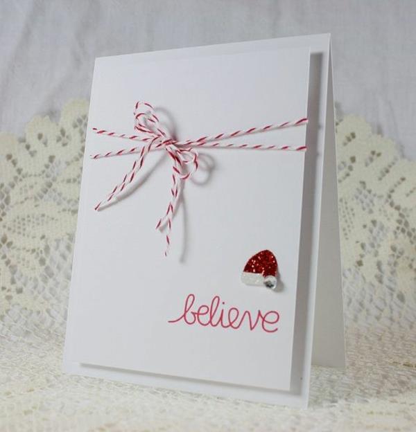 wunderbare-Weihnachtskarten-selber-basteln-schöne-Ideen-