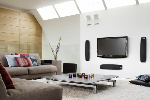 wohnzimmer ideen fr fernsehen | badezimmer & wohnzimmer, Moderne deko