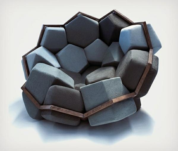 Design für Sessel wunderschöner-Sessel-mit-coolem-Design-geometrische-Formen