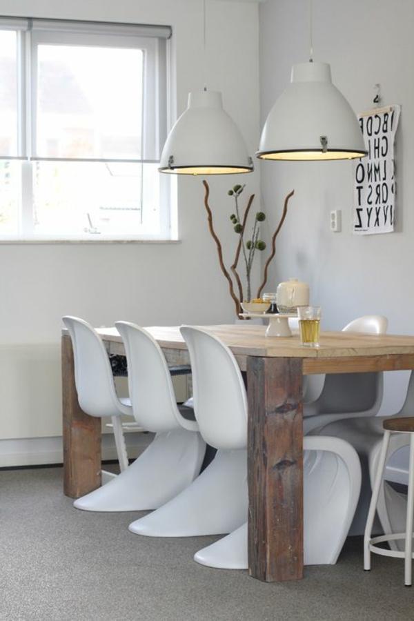 zimmer-einrichtungsideen-esszimmer-mit-weißen-stühlen