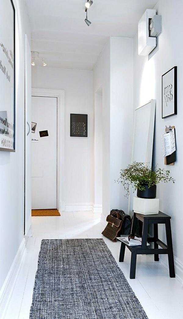 zimmer-einrichtungsideen-weißer-flur-mit-einem-grauen-teppich