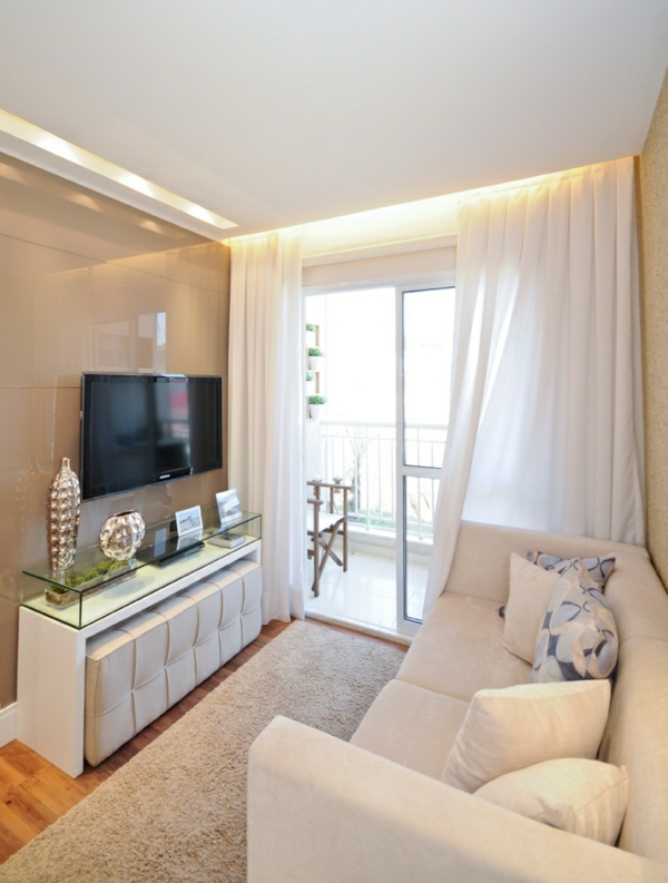 Kleines Wohnzimmer Gemütlich Einrichten kleines wohnzimmer richtig ...
