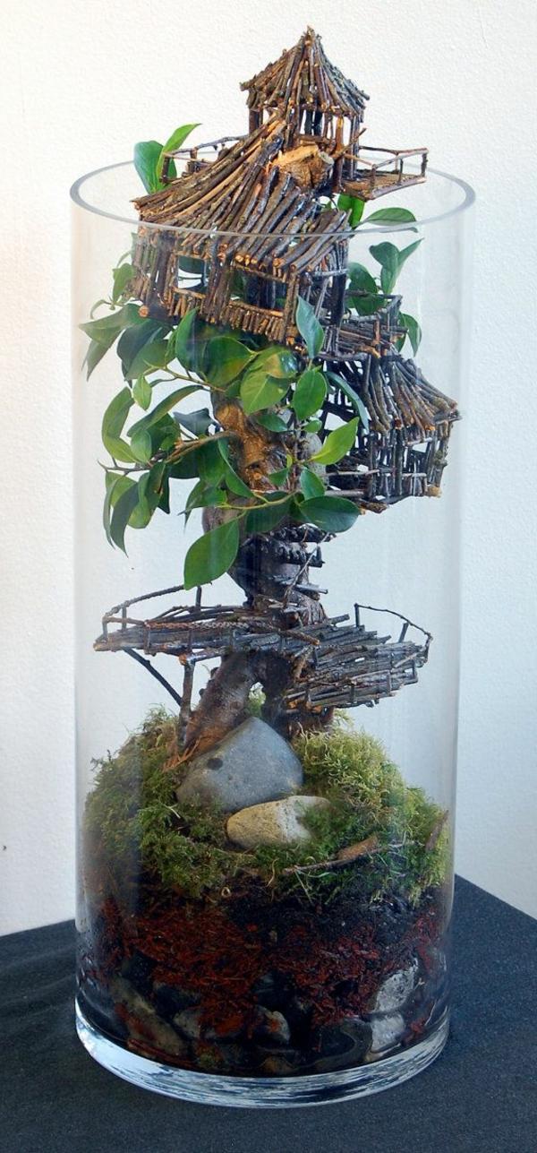 terrarium einrichten - ein häuschen drin