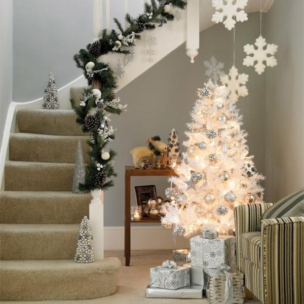 Weihnachtsdeko Für Geländer.125 Prima Ideen Für Weiße Weihnachtsdeko Archzine Net