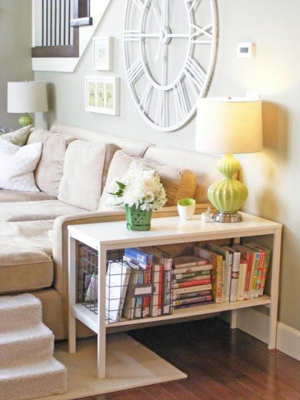 wohnzimmer einrichten - sofa und lampe