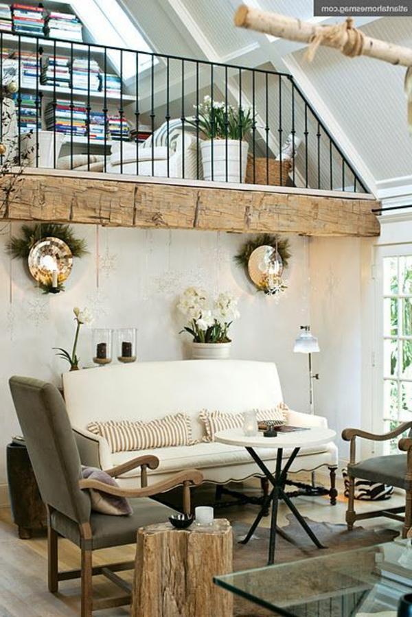 wohnzimmer einrichten - sofa in weiß