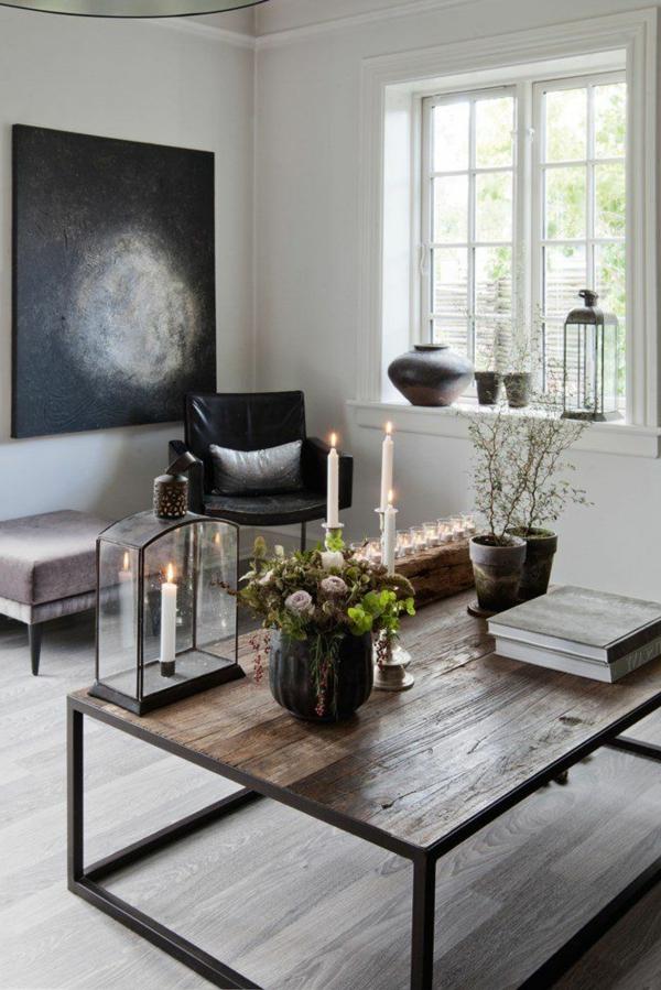 wohnzimmer einrichten - bild in schwarz und weiß