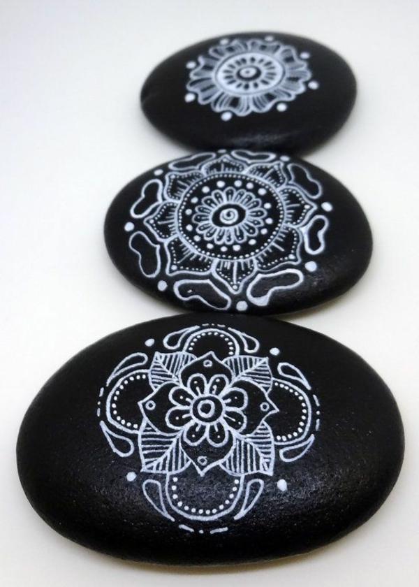 kieselstein dekoration - schöne bemalte steine