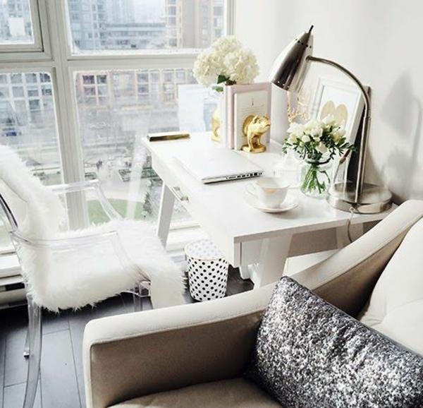 kleines wohnzimmer einrichten- wand aus glas