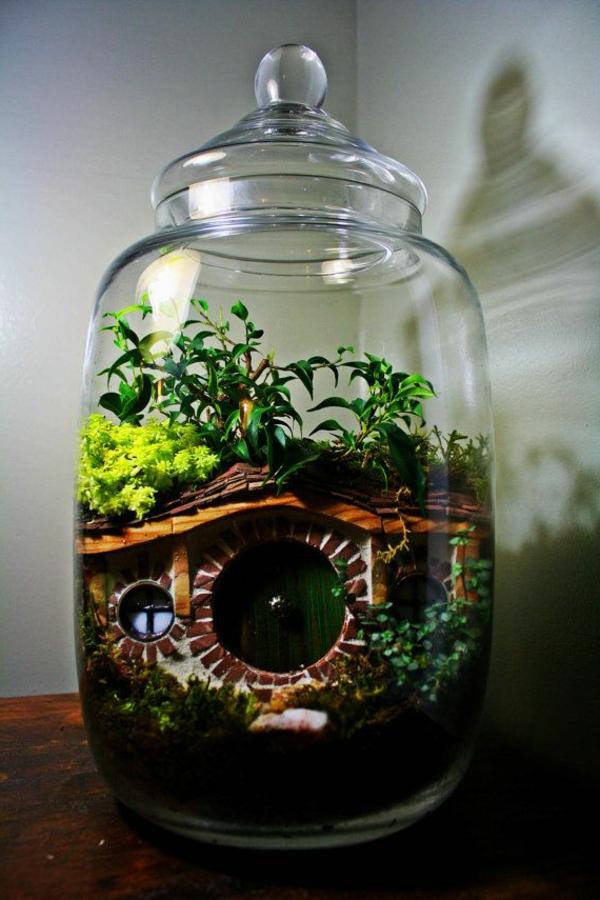 terrarium einrichten - in die ecke gestellt