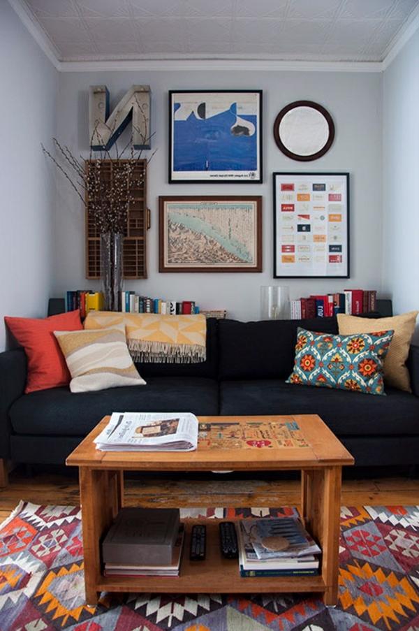 wohnzimmer einrichten - schöne bilder an der wand