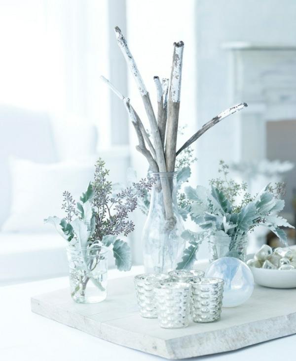 weiße weihnachtsdeko für tisch - sehr schön erscheinen