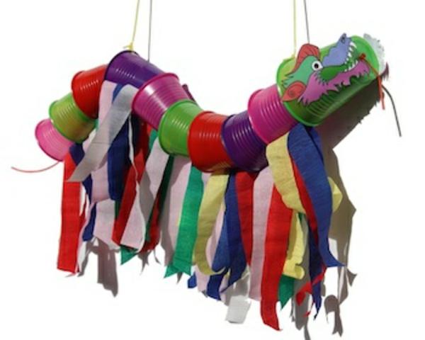 bastelideen für kindergarten- ein cooler drache