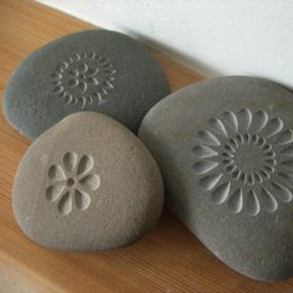 wunderschöne steine - interessant dekoriert