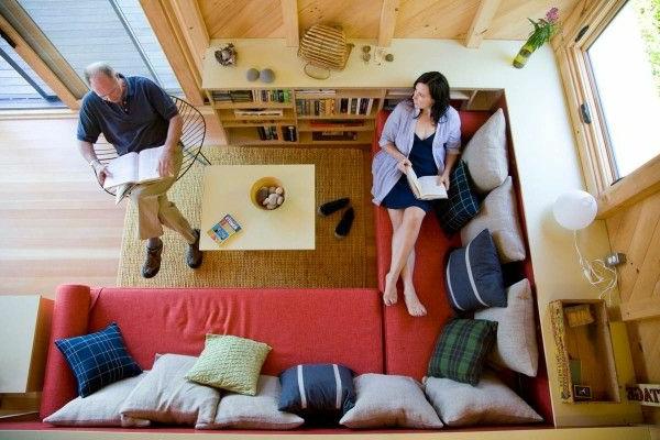 kleines wohnzimmer einrichten - bild von oben gemacht