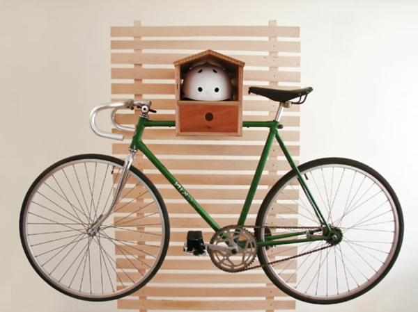 Aufbewahrung-von-Fahrrädern-Fahrradständer-Vogelfütterhaus-praktische-Ideen