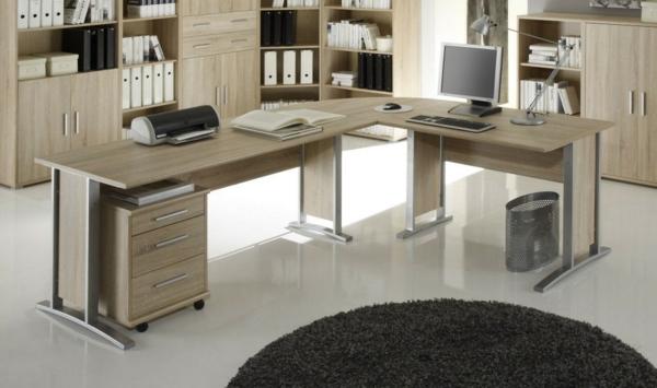 Büro-Schreibtisch-Eckschreibtisch-Holz