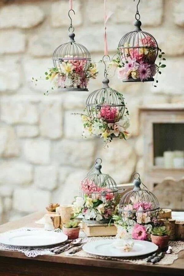 Blumen-in-Kägig-wunderschöne-Vintage-Hochzeit