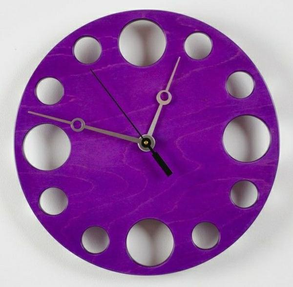 110 wanduhren mit attraktivem design for Wanddeko lila