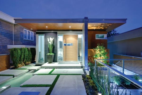 Luxus eingangs berdachung for Exterieur villa moderne