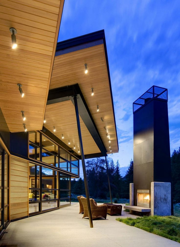 -Eingangsüberdachung-mit-fantastischer-Beleuchtung-Exterior Eingangsüberdachung