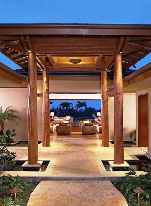 -Exterior-Design-Luxus-Eingang-mit-Überdachung-Holz