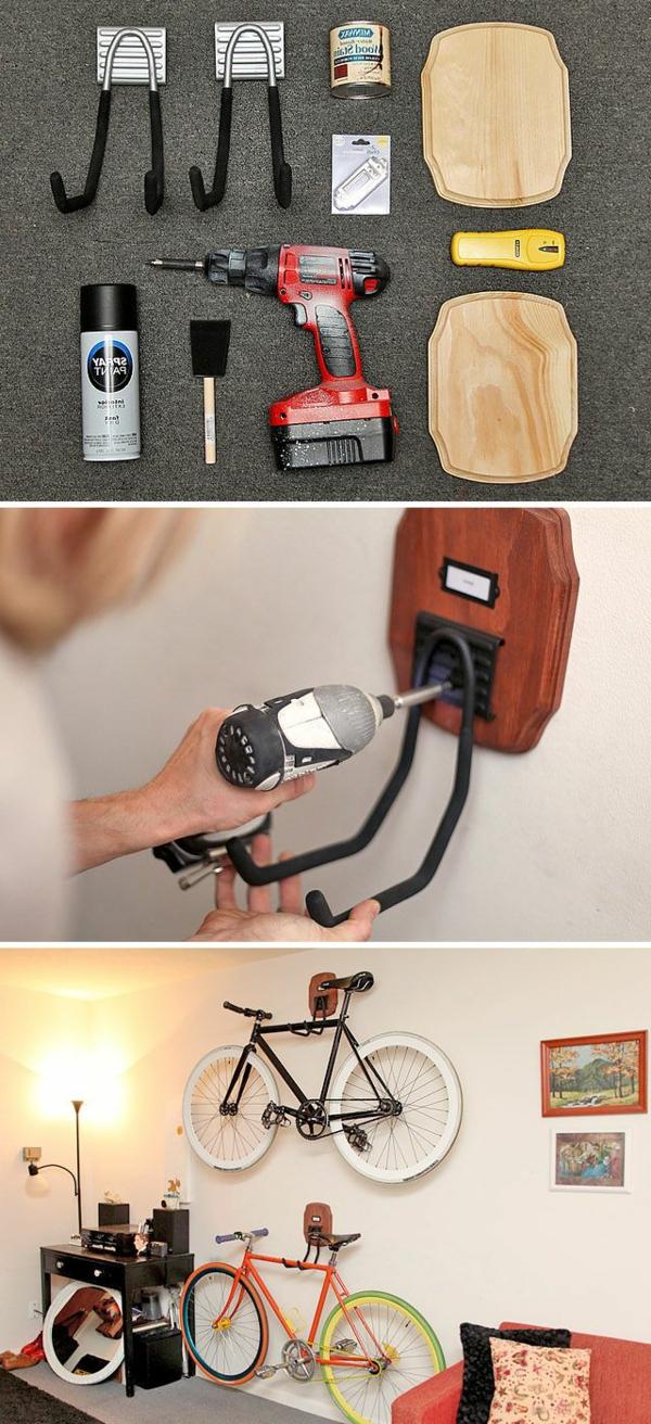 Fahrradständer-selber-machen-effektvolle-Lösung-für-die-Aufbewahrung-des-Fahrrads-aus-Holz