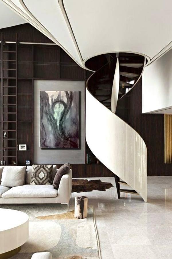 Faszinierende-Innentreppe-Schwarz-und-Weiß-Design-Idee