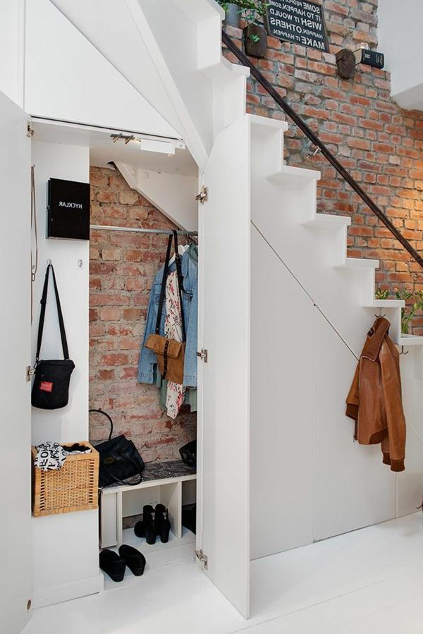 Modernen flur gestalten 80 inspirierende ideen - Meuble tv sous escalier ...