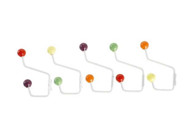Kleiderhaken-mit-tollem-Design-mit-farbige-Kügeln