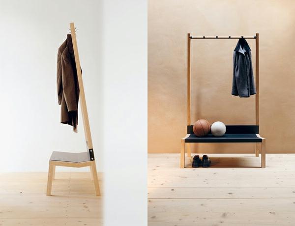 -Garderobenständer-Holz-mit-originellem-Design Kleiderständer aus Holz