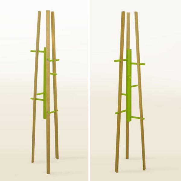 Kleiderständer aus Holz Garderobenständer-aus-Holz-mit-schönem-Design--