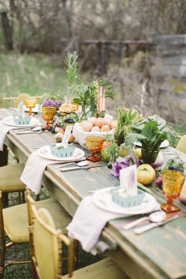 -Hochzeitsdeko-günstig--Hochzeitsdeko-selber-machen-Blumendeko-für-Tisch Vintage Hochzeit