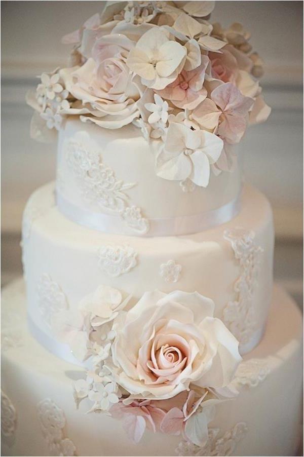 Hochzeitstorte--Hochzeitsideen-für-eine-unvergessliche-Hochzeit-Tischdeko