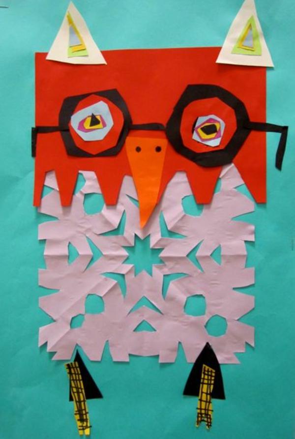 bastelideen für kindergarten - uhu in orange
