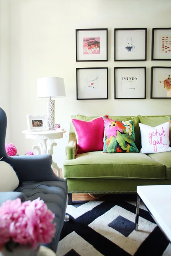 schöne wohnzimmer deko:Ideen-Wandgestaltung-Wohnzimmer-Interior-Design-schöne–Ideen-
