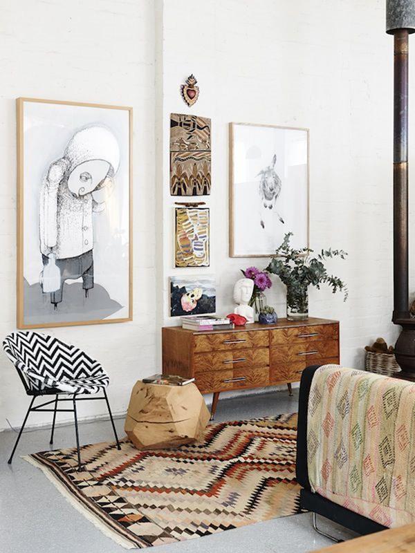 Ideen-Wandgestaltung-Wohnzimmer-Interior-Design-schöne-Ideen