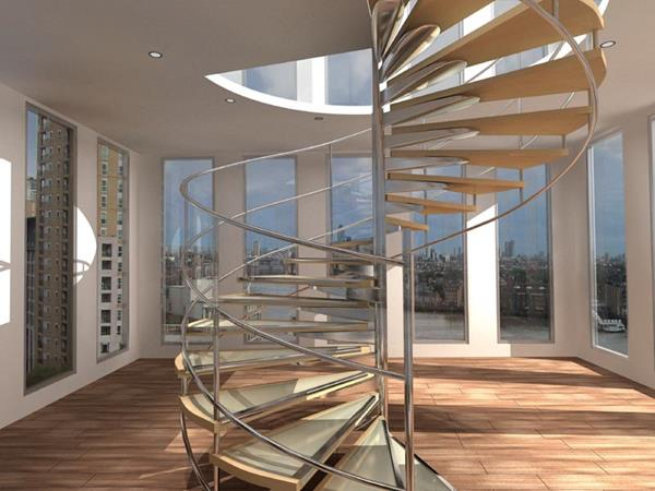 Ideen-für-das-moderne-Interior-Design-Innentreppe-Spindeltreppe