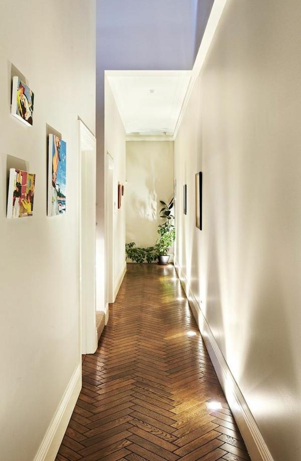 Interior-Design-Ideen-Bodenbelag-aus-Holz-im-Flur