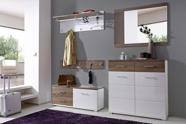 Interior-Design-Ideen-Flurmöbel-aus-Holz-Möbelset-für-den-Flur
