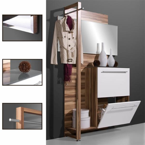 Interior-Design-Ideen-funktionelle-Flurmöbel-aus-Holz