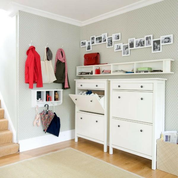 Interior-Design-Ideen-weiße-Flurmöbel-aus-Holz