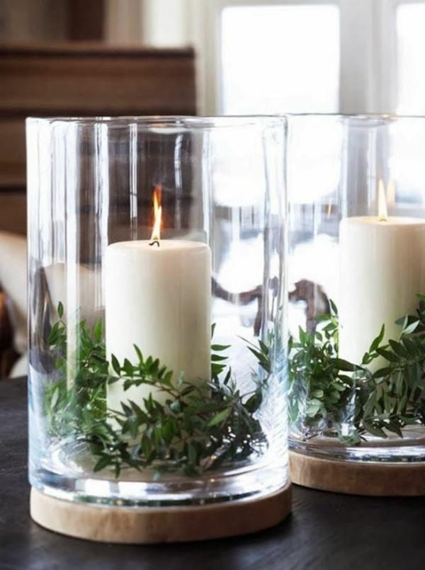 Kerzen-in-Weiß-Weihnachtsdeko-günstig-Weihnachtsdeko-selber-machen-Deko-für-Tisch