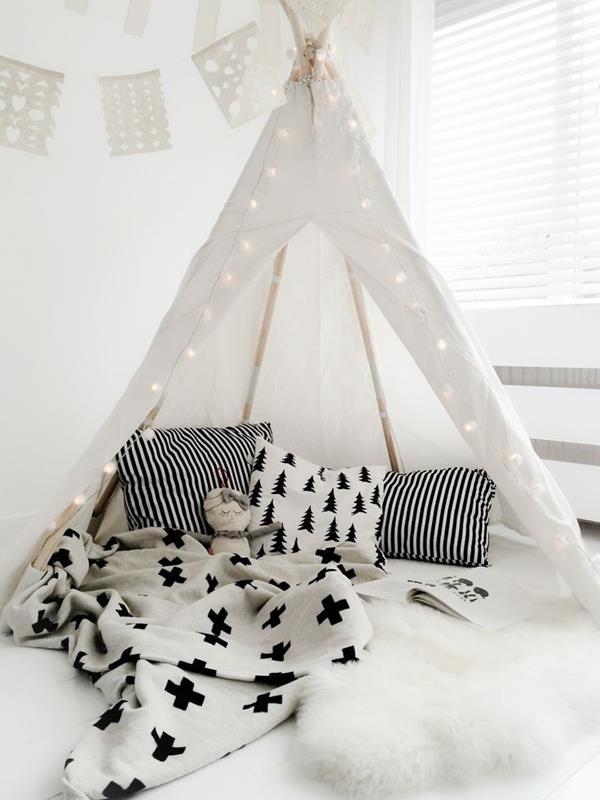 Kinderzimmer-einrichten-in-Weiß-schöne-Interior-Design-Ideen