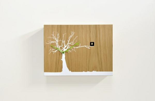 Kreative-Wandgestaltung-mit-coolem-Wanduhr-schönes-Design